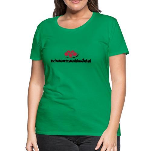 Frauen Premium T-Shirt - Tradition,Tracht,Schwarzwaldmädel,Schwarzwald,Kultur,Heimat,Dorfkind,Deutschland,Bollenhut,Baden-Württemberg