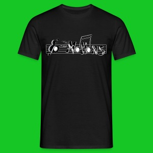 Muziek emoties zwart heren t-shirt - Mannen T-shirt