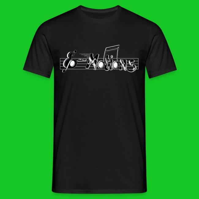 Muziek emoties zwart heren t-shirt