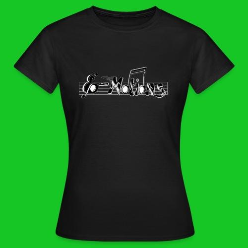 Muziek emoties zwart dames t-shirt - Vrouwen T-shirt