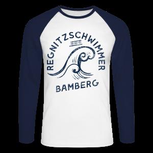 Regnitzschwimmer - Herren Baseball Langarmshirt - 100% Baumwolle - #KLEINSTADT - Männer Baseballshirt langarm