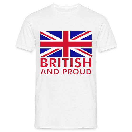 BRITISH c& PROUD - Men's T-Shirt