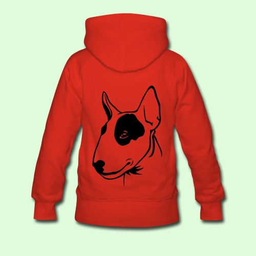Profil de Bull Terrier - Sweat-shirt à capuche Premium pour femmes
