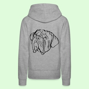 Face de Dogue de Bordeaux - Sweat-shirt à capuche Premium pour femmes