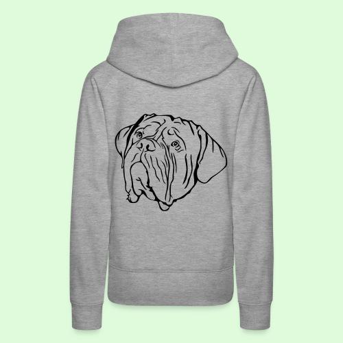 Face de Dogue de Bordeaux - Sweat-shirt à capuche Premium pour femmes