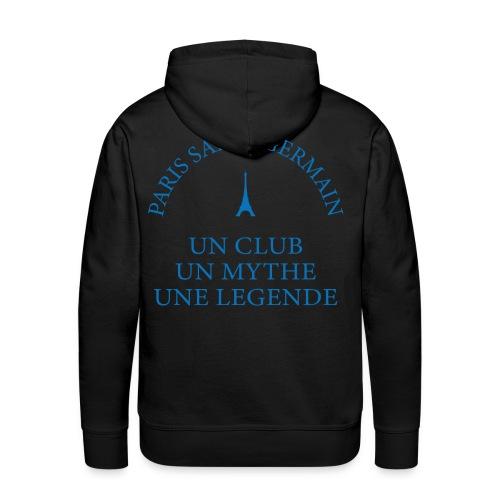 Sweet Noir  Une Légende - Sweat-shirt à capuche Premium pour hommes