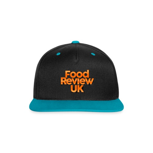 Food Review UK Cap (Cyan) - Contrast Snapback Cap