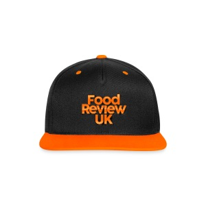 Food Review UK Cap (Orange) - Contrast Snapback Cap
