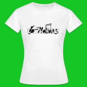 Muziek emoties dames t-shirt wit - Vrouwen T-shirt