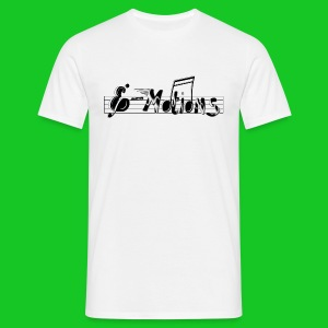 Muziek emoties heren t-shirt wit - Mannen T-shirt