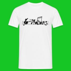 Muziek emoties heren t-shirt wit - Mannen T-shirt