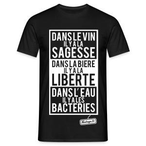 Vin - Bière - Eau - T-shirt Homme