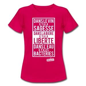 Vin - Bière - Eau - T-shirt Femme