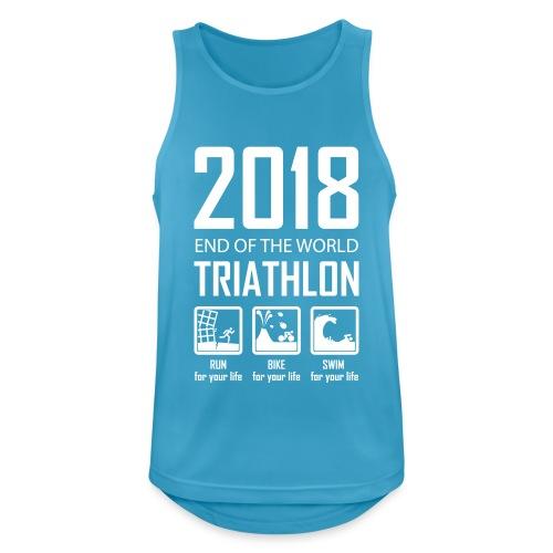 2018 Triathlon - Mannen tanktop ademend