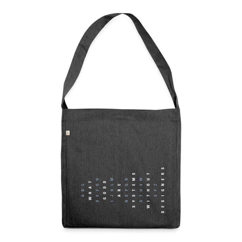 ABC Designers (EN), Recycling Tote Bag - Schultertasche aus Recycling-Material
