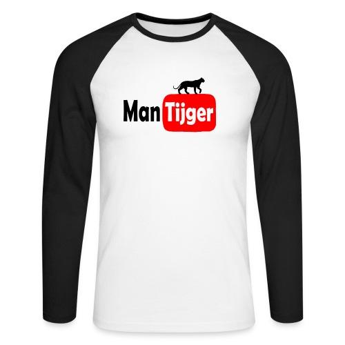 Mantijger - longsleeve zwart - Mannen baseballshirt lange mouw