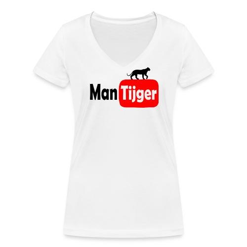 Mantijger - dames - Vrouwen bio T-shirt met V-hals van Stanley & Stella