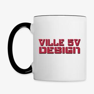 Ville 5v Design kuppi - Kaksivärinen muki