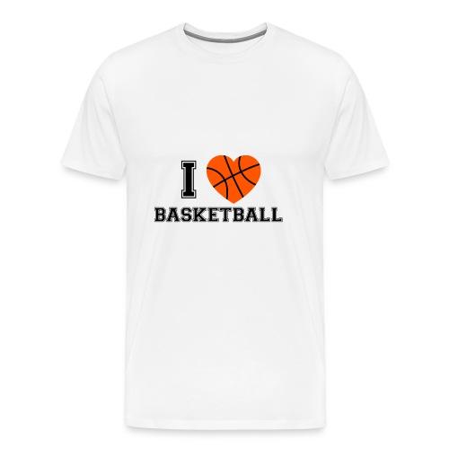 I LOVE BASKETBALL - Männer Premium T-Shirt