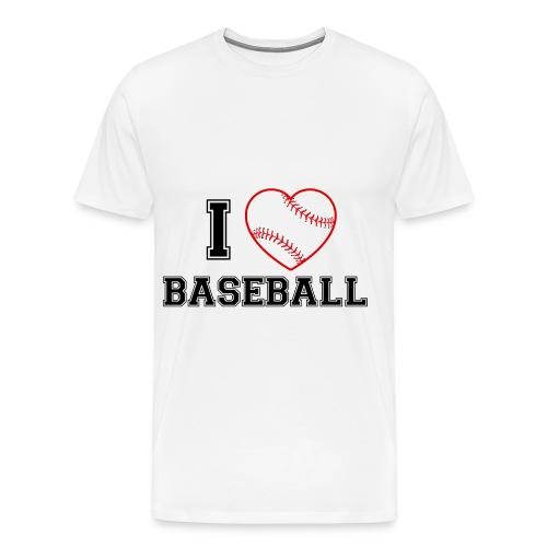 I LOVE BASEBALL - Männer Premium T-Shirt