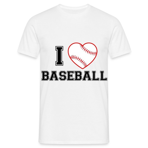 I LOVE BASEBALL - Männer T-Shirt
