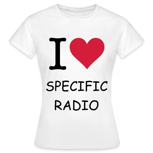Specific Radio alm. Pige - Dame-T-shirt