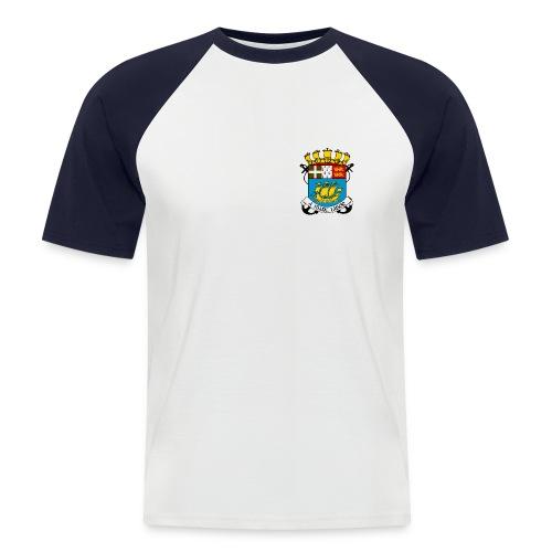 T-shirt SPM noir et blanc - T-shirt baseball manches courtes Homme