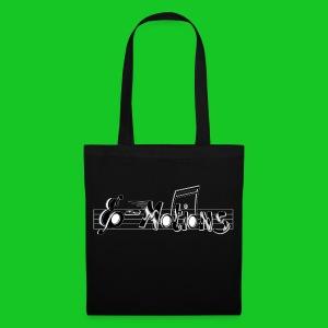 Muziek emoties tas katoen zwart - Tas van stof