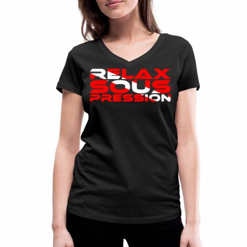 Relax Sous Pression Plongée Tee shirts - T-shirt bio col V Stanley & Stella Femme