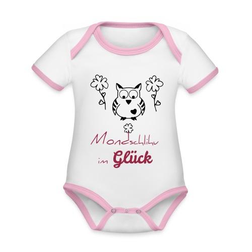 Mondschlihu im GLÜCK – Baby Body GIRL – individualisierbar - Baby Bio-Kurzarm-Kontrastbody