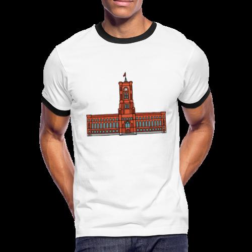 Rotes Rathaus BERLIN - Männer Kontrast-T-Shirt
