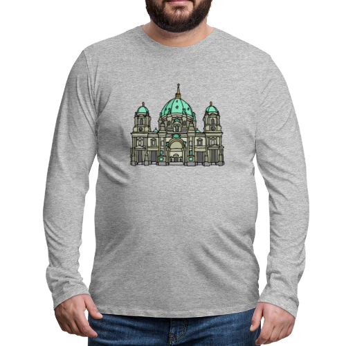 Berliner Dom  - Männer Premium Langarmshirt