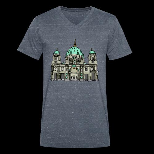 Berliner Dom  - Männer Bio-T-Shirt mit V-Ausschnitt von Stanley & Stella
