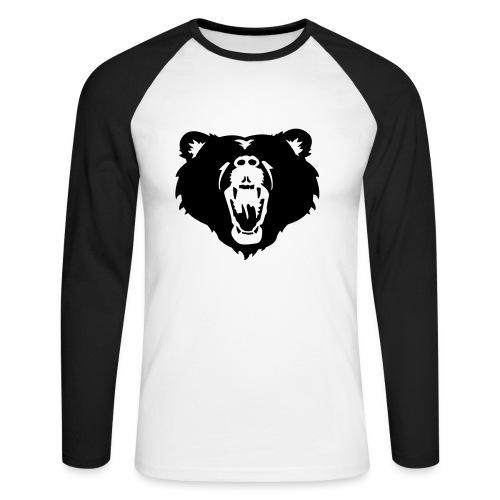 Bear - Langærmet herre-baseballshirt