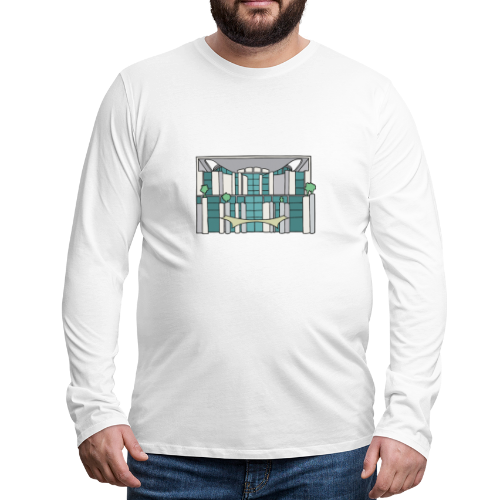 Kanzleramt in Berlin - Männer Premium Langarmshirt