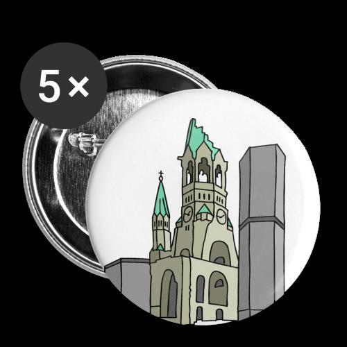 Gedächtniskirche BERLIN - Buttons mittel 32 mm