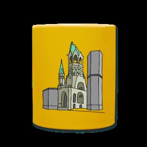 Gedächtniskirche BERLIN - Tasse einfarbig