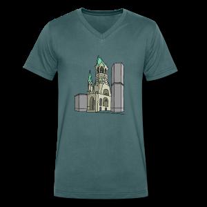 Gedächtniskirche BERLIN - Männer Bio-T-Shirt mit V-Ausschnitt von Stanley & Stella