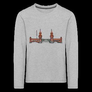 Oberbaumbrücke in Berlin - Kinder Premium Langarmshirt