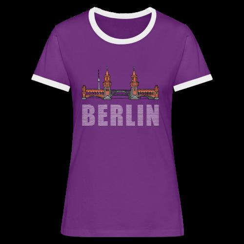Oberbaumbrücke in Berlin - Frauen Kontrast-T-Shirt