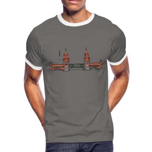 Oberbaumbrücke in Berlin - Männer Kontrast-T-Shirt