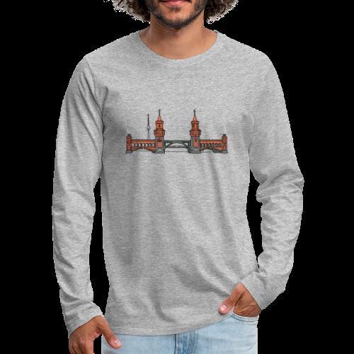 Oberbaumbrücke in Berlin - Männer Premium Langarmshirt