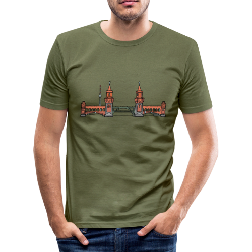 Oberbaumbrücke in Berlin - Männer Slim Fit T-Shirt