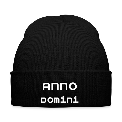 Anno Domini Black Knitted Hat - Winter Hat