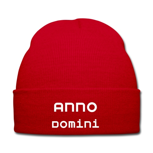Anno Domini Red Knitted Hat - Winter Hat
