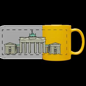 Brandenburger Tor BERLIN - Panoramatasse farbig