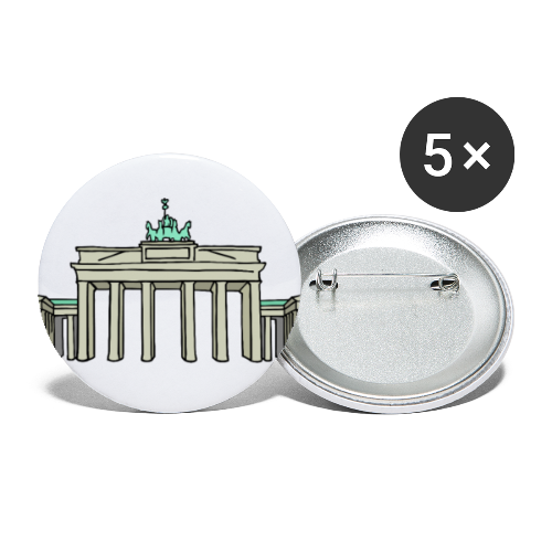 Brandenburger Tor BERLIN - Buttons mittel 32 mm (5er Pack)