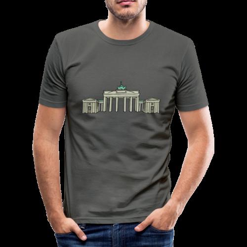 Brandenburger Tor BERLIN - Männer Slim Fit T-Shirt