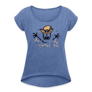 Fasching - Frauen T-Shirt mit gerollten Ärmeln
