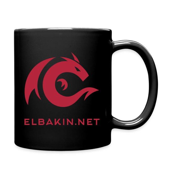 Mug céramique noir avec logo rouge